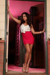 Kirsten Price getting naughty in the doorway!