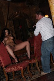 Some fun and personal behind the scenes footage of gorgeous busty brunette, Aria Giovanni, having fun on the set at Aziani!
