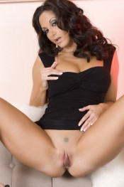 Beautiful busty brunette, Ava Addams, is a dream in her tight little black dress and high heels, and even better out of it!