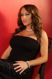 Jenna Presley looks hot as sin in her black tank top and tight black leather pants!  She looks even better out of them and playing with her sweet pussy!